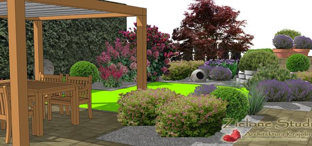 Projekt małego ogrodu w Lublinie