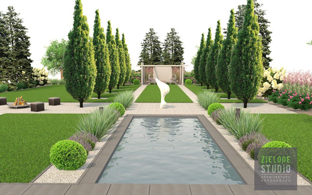 Projekt ogrodu w Jabłonnej